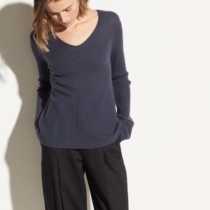 VINCE Ribbed Wool And Cashmere-Blend Sweater NWT